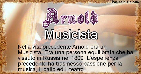 Arnold - Vita precedente analizzando il cognome Arnold
