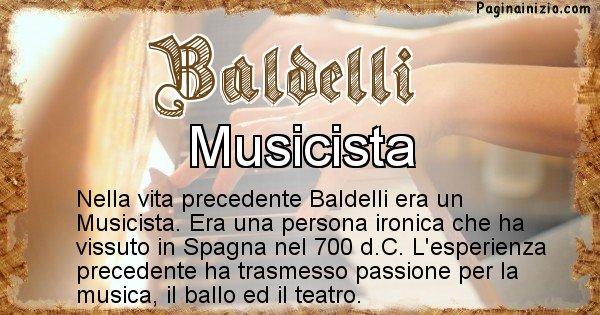 Baldelli - Vita precedente analizzando il cognome Baldelli