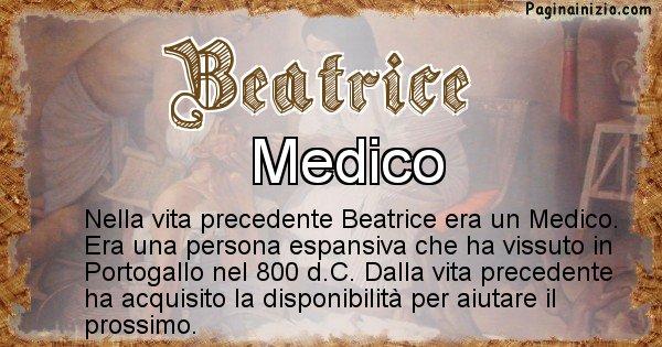 Beatrice - Vita precedente analizzando il cognome Beatrice