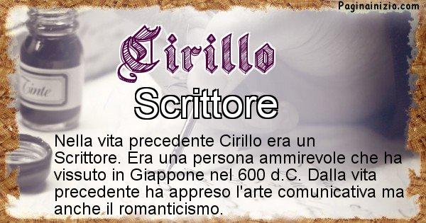 Cirillo - Vita precedente analizzando il cognome Cirillo