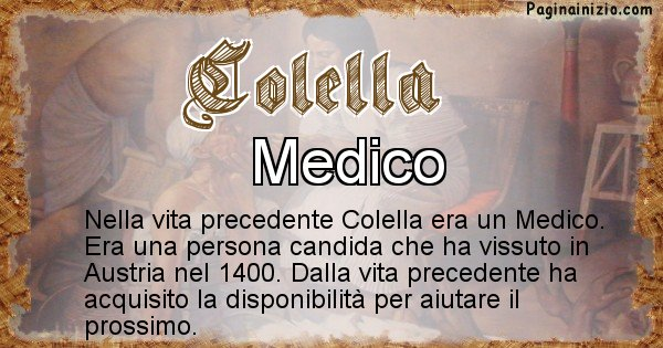 Colella - Vita precedente analizzando il cognome Colella