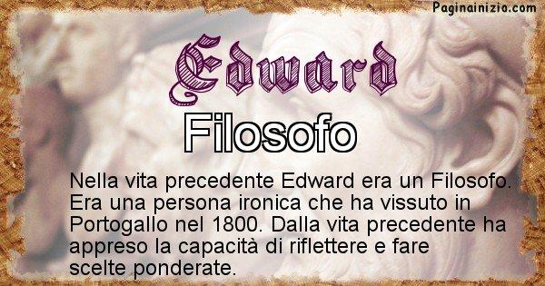 Edward - Vita precedente analizzando il cognome Edward