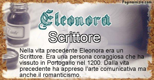 Eleonora - Vita precedente analizzando il cognome Eleonora