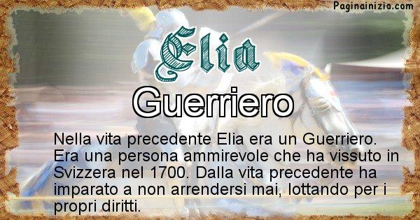 Elia - Vita precedente analizzando il cognome Elia