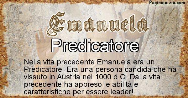 Emanuela - Vita precedente analizzando il cognome Emanuela