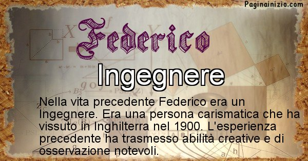 Federico - Vita precedente analizzando il cognome Federico