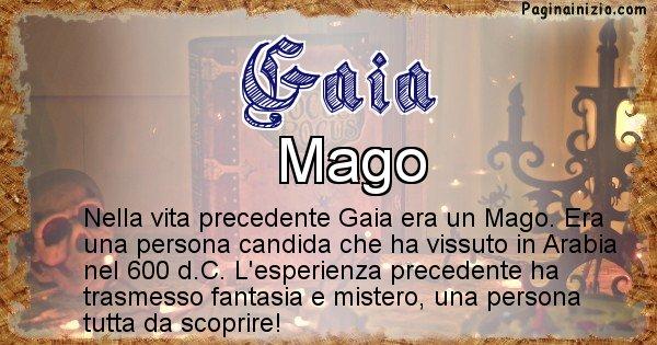 Gaia - Vita precedente analizzando il cognome Gaia