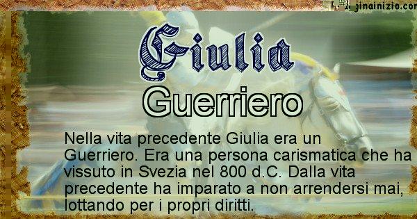 Giulia - Vita precedente analizzando il cognome Giulia