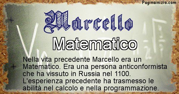 Marcello - Vita precedente analizzando il cognome Marcello