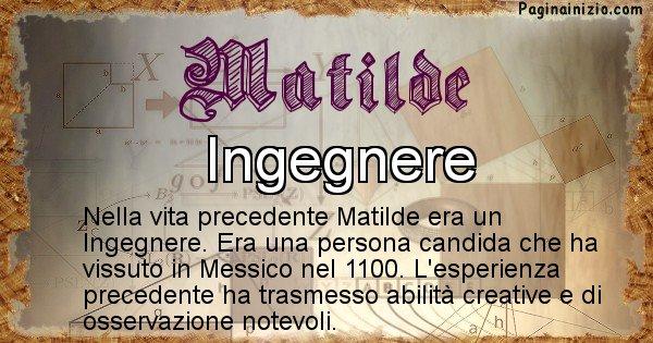Matilde - Vita precedente analizzando il cognome Matilde