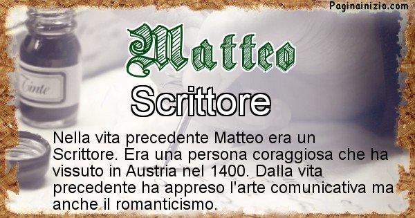 Matteo - Vita precedente analizzando il cognome Matteo