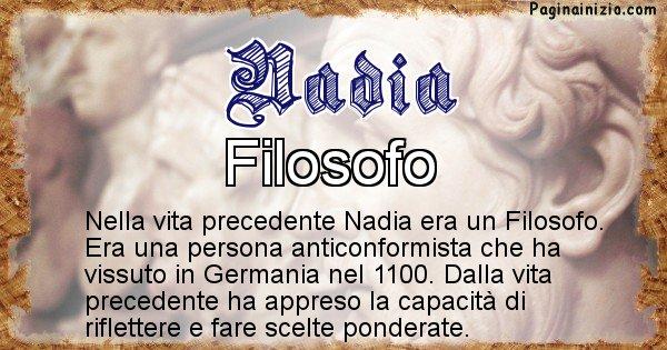 Nadia - Vita precedente analizzando il cognome Nadia