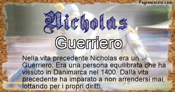Nicholas - Vita precedente analizzando il cognome Nicholas