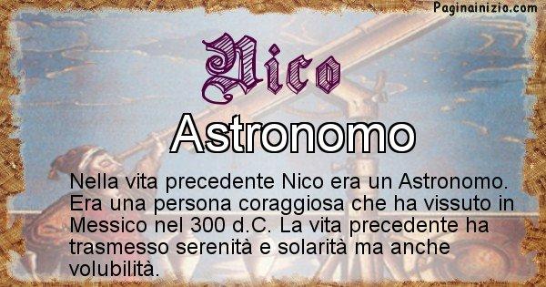 Nico - Vita precedente analizzando il cognome Nico