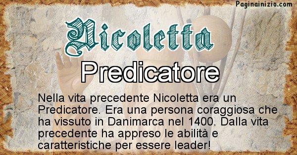 Nicoletta - Vita precedente analizzando il cognome Nicoletta