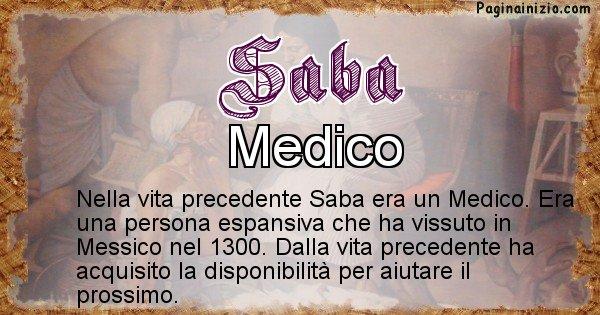 Saba - Vita precedente analizzando il cognome Saba