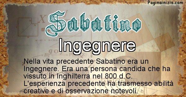 Sabatino - Vita precedente analizzando il cognome Sabatino