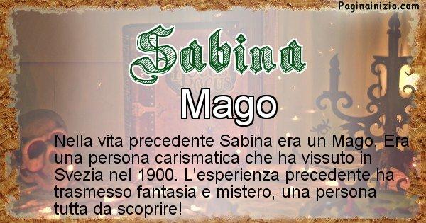 Sabina - Vita precedente analizzando il cognome Sabina