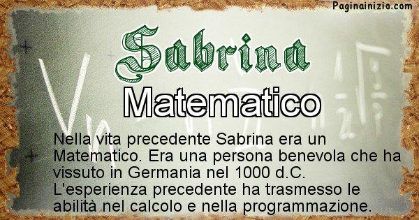 Sabrina - Vita precedente analizzando il cognome Sabrina