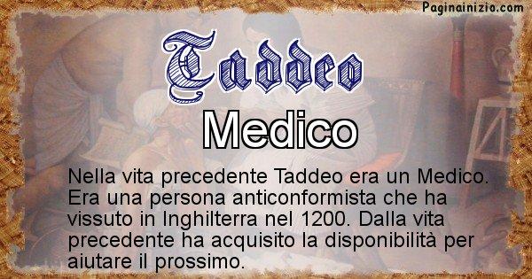 Taddeo - Vita precedente analizzando il cognome Taddeo