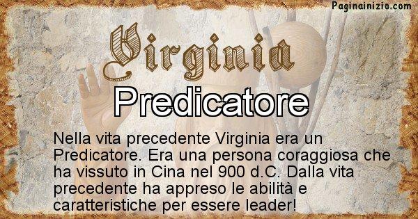 Virginia - Vita precedente analizzando il cognome Virginia